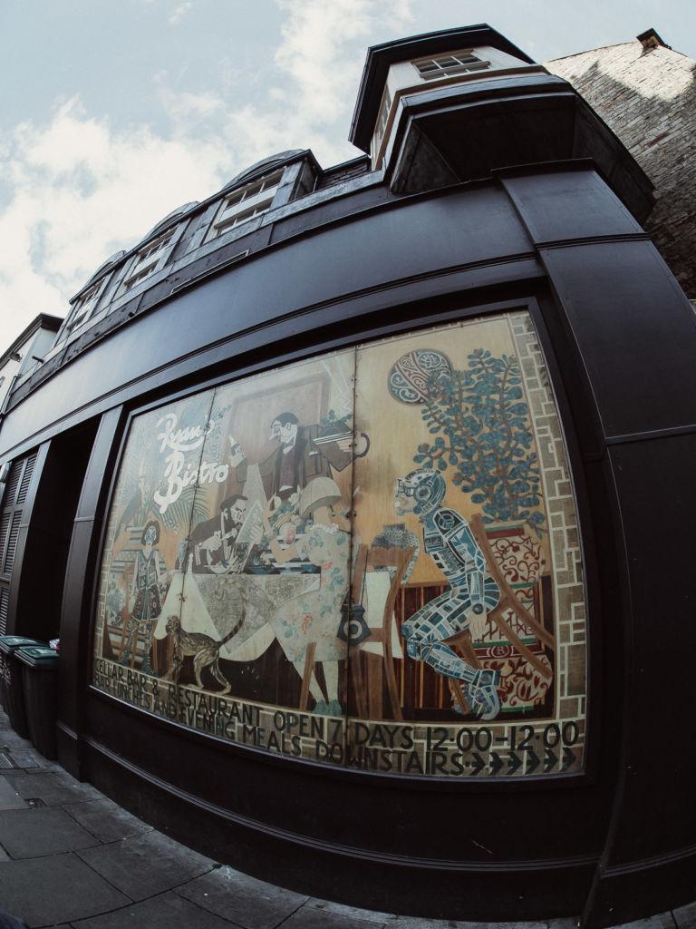 edimbourg rue fresque