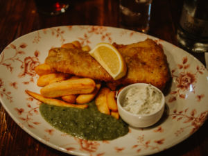 fish and chips The Mitre Bar