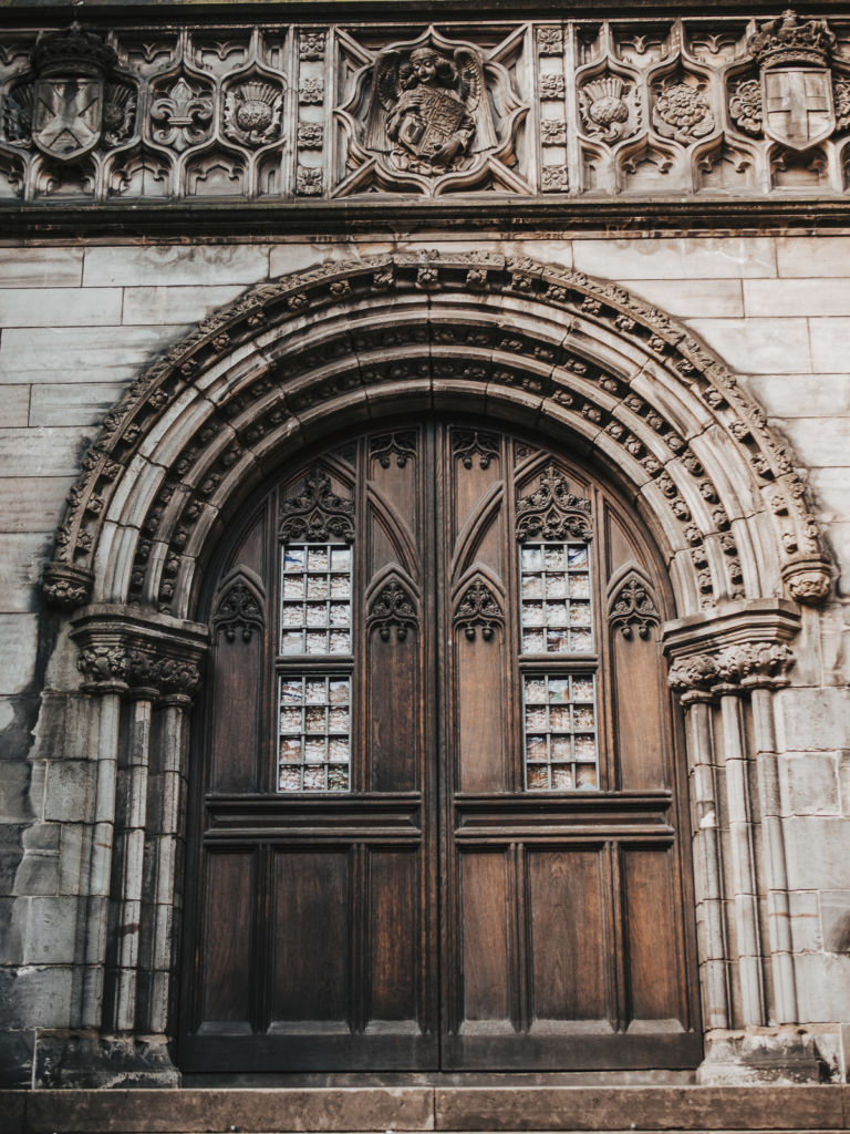cathédrale édimbourg rue architecture