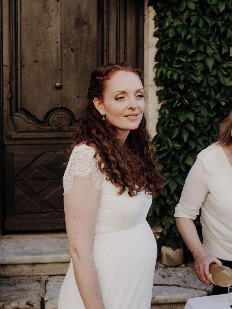 portrait mariée vin d'honneur mariage