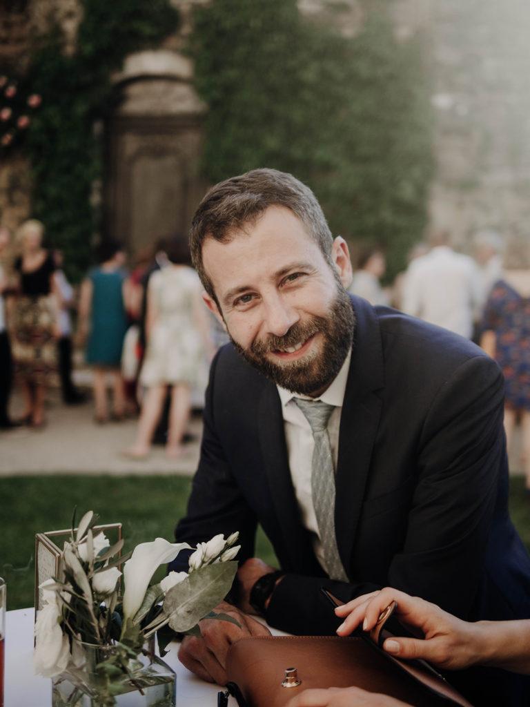 portrait invité vin d'honneur mariage
