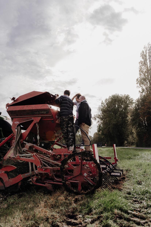 tracteur semage de l'orge